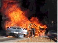 Une Ferrari F430 qui a chaud au derrière..