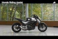 Concept: la moto autonome (Honda Riding Assist) en vidéo