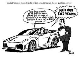 Le dessin du jour - Dacia Duster : scandaleusement inaccessible