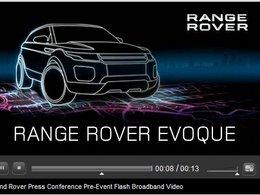 Salon de l'auto 2010 : les présentations Range Rover Evoque et Jaguar en Live sur internet