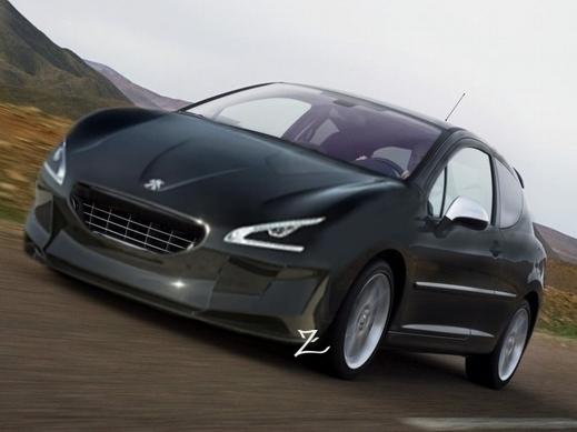 Virtuelle Peugeot 208 : un mix de 207 et d'EX1 ?