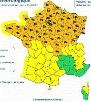 Météo: la tempête arrive 53 département en vigilance orange