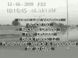 A Abu Dhabi, on ne plaisante vraiment pas avec les infractions routières