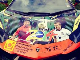 L'Aventador de Bacary Sagna aux couleurs du Mondial 2014