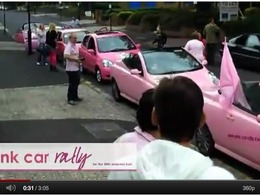 Une Nissan Leaf rose a participé au Pink Car Rally pour la bonne cause