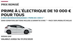 Nissan rallonge le bonus de la Leaf à 10 000 €
