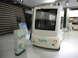 En direct du Mondial de Paris : le VIPA, véhicule électrique de transport de passagers autonome