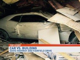 """Il détruit son auto et deux commerces en voulant rejouer """"retour vers le futur"""""""