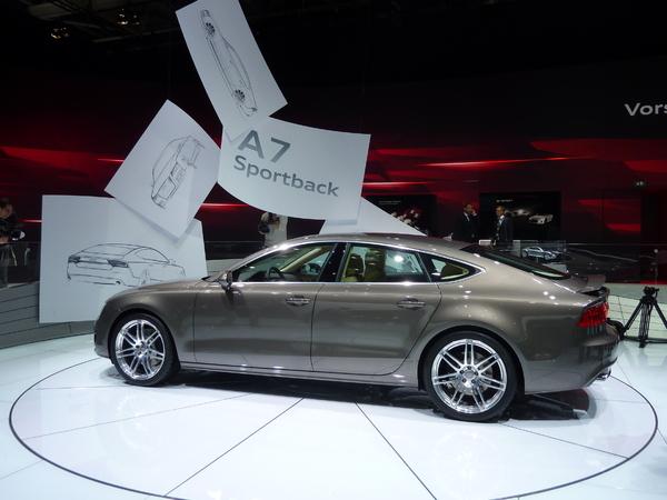 Mondial de l'auto 2010 Live : Audi A7, à quoi bon une A8 ?