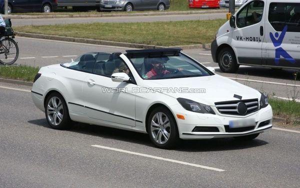 Spyshot : le cabriolet Mercedes Classe E se découvre
