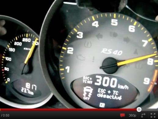 Un 0 à 300 km/h en Porsche 911 GT3 RS 4.0l
