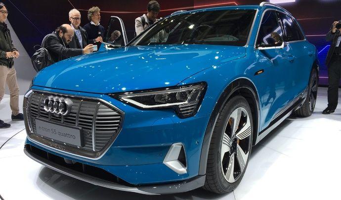 Audi e-tron : électrique classique - Vidéo en direct du Mondial de l'Auto 2018
