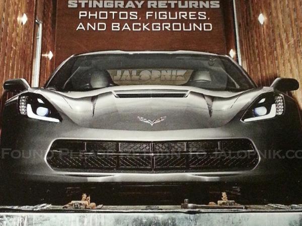 Corvette C7 : la voilà de face sur du papier glacé