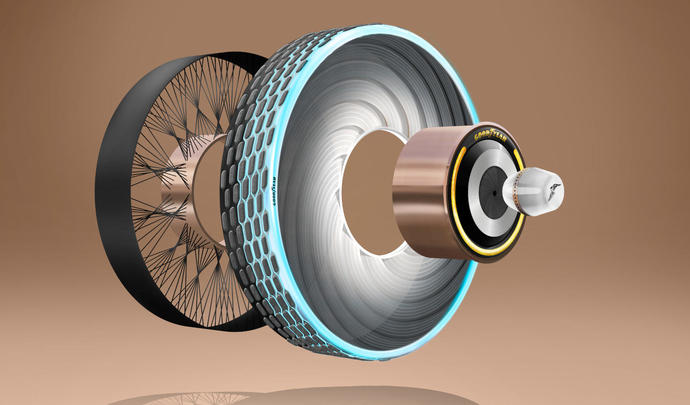 Un concept de pneu rechargeable signé Goodyear