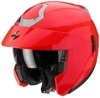 Scorpion: l'Exo 900 Air vire au rouge fluo.