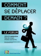 """Palais des congrés de Juan Les Pins : le Forum """"Comment se déplacer demain ?"""""""