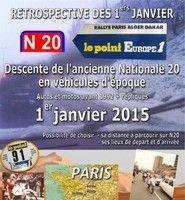 Rétrospectives des 1er Dakar: le 1er janvier, Patrick Lehue descendra l'ancienne RN 20 comme à l'époque.