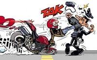 BD : la moto vue par Sato.