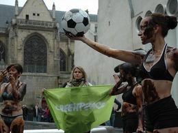 «L'addiction au pétrole fige nos sociétés» : le flashmob de Greenpeace dans 15 villes de France