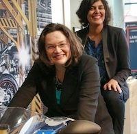 La ministre du Travail en visite à  l'usine BMW Motorrad de Berlin