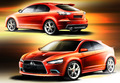 Premiers dessins pour la Mitsubishi Lancer Sportback