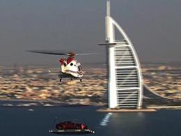 [Vidéo] Aston Martin perche une Vanquish sur l'héliport du Burj Al Arab
