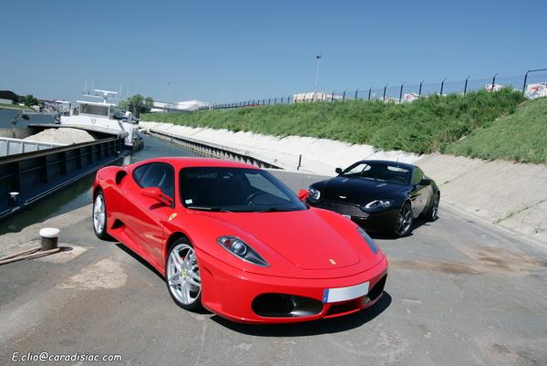 Photos du jour : Ferrari 430 & Aston Martin V8 Vantage