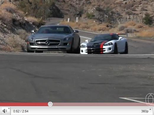 Dodge Viper ACR vs Mercedes SLS : le jogging contre le smoking