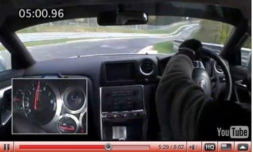 """Vidéo Ring' Folies : les 7'26""""70 de la Nissan GT-R"""