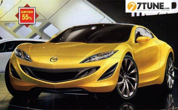 Mazda RX7 concept en approche