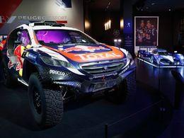 Des voitures de course chez Peugeot Avenue
