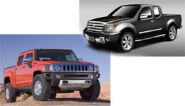 Salon de Chicago 2008 : Hummer H3T et Suzuki Equator en fuite