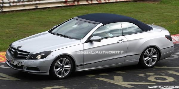 Spyshot : la Mercedes Classe E Cabriolet sur le Nürburgring
