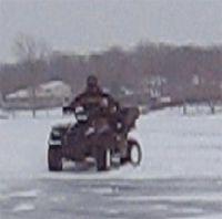 Vidéo moto: quad sur Glace