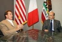 Etats-Unis : Juppé discute d'écologie avec Schwarzenegger