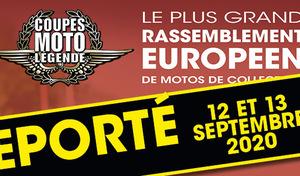 Coupes Moto Légende reportées aux 12 et 13 septembre 2020