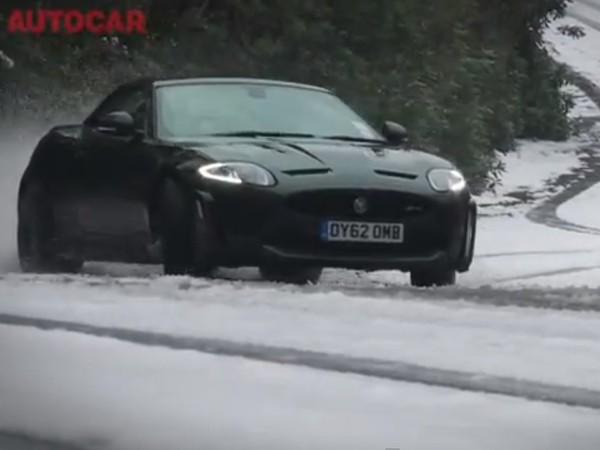 Vidéo : Jaguar XK RS, Audi R8, Porsche 991 et Bentley GT Speed s'amusent dans la neige