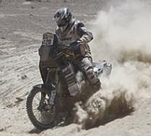 "Dakar 2010 :  Christian Califano, un amateur de ""luxe"" particulier"