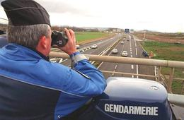 La carte de France   des radars sur autoroutes