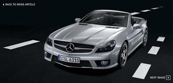 Nouveau Mercedes SL63 AMG : 525 ch à découvert