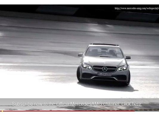 [vidéo] La Mercedes E63 AMG restylée en mouvement