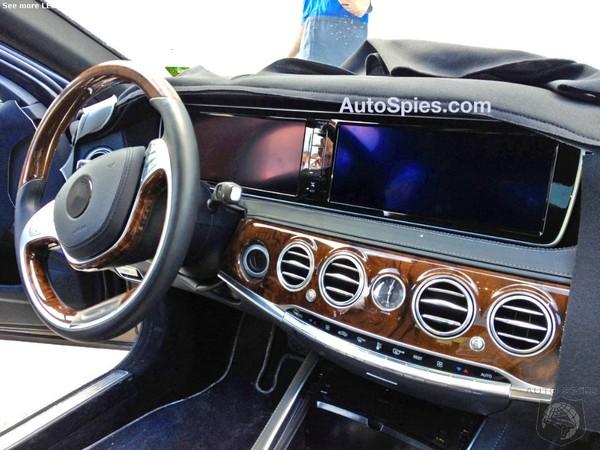 Surprise : la planche de bord haut de gamme de la future Mercedes Classe S