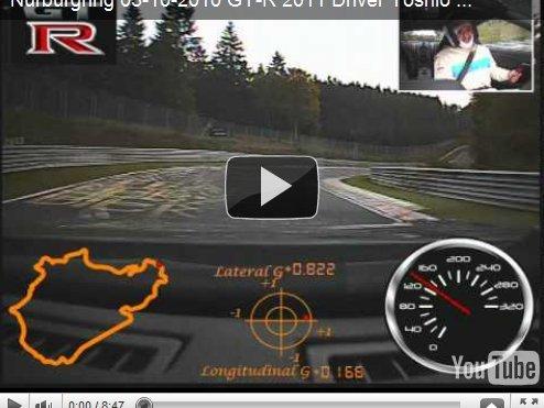 Pré-Ring Folies : la Nissan GT-R 2011 se chauffe (caméra embarquée)