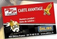 En 2010, l'achat d'un Ohlins TTX 36 vous donne droit à une carte avantage.