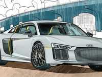 Un cahier de coloriage Audi à télécharger