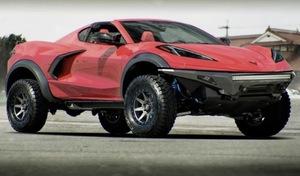 La Corvette C8 imaginée en buggy