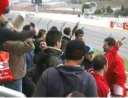 """Vidéo F1 : """"l'accueil"""" de Lewis Hamilton à Barcelone"""