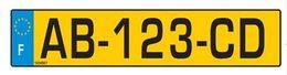 Dimension garage systeme immatriculation vehicule - Garage plaque immatriculation ...