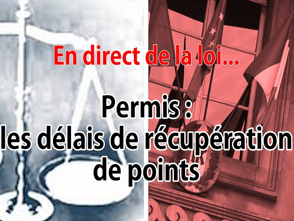 en direct de la loi permis quels sont les d lais pour r cup rer des points. Black Bedroom Furniture Sets. Home Design Ideas