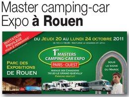 Agenda : 1er Master Camping-Car Expo Paris Ouest du 20 au 24 Octobre